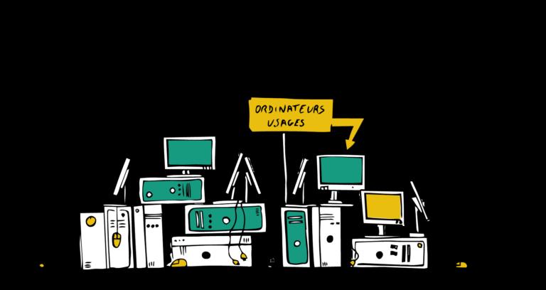Votre structure stocke des ordinateurs usagés inutilisés ? Vous cherchez à faire une action sociale et environnementale avec vos déchets électronique (DEEE) ?