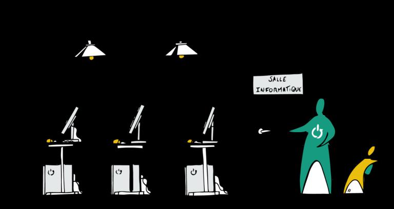 WeeeFund offre à la structure socio-éducative une salle informatique clés en main.