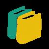 picto - livres verts et jaunes